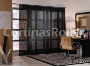 cortinas paneles orientales en color negro imagen rreal