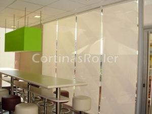 Set 4 cortinas roller oficinas profesionales