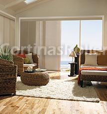 cortinas paneles orientales habitacion